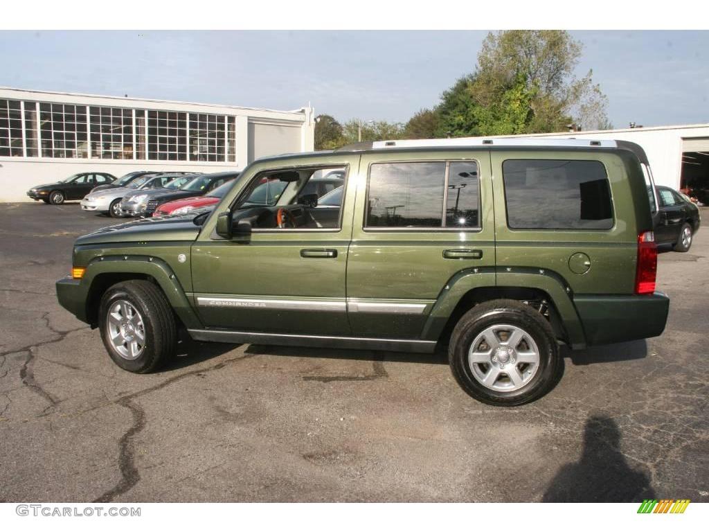 2007 jeep green metallic jeep commander overland 4x4. Black Bedroom Furniture Sets. Home Design Ideas