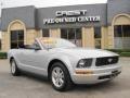 2007 Satin Silver Metallic Ford Mustang V6 Deluxe Convertible  photo #1