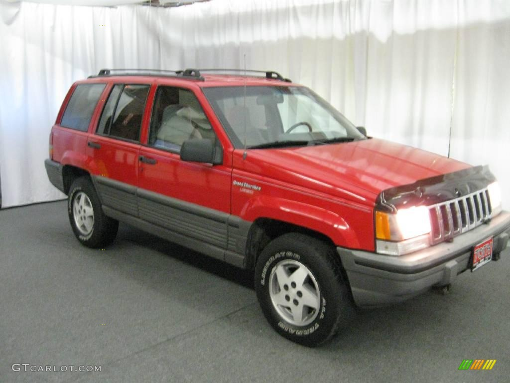 1993 jeep grand cherokee laredo 4x4 poppy red color gray interior. Cars Review. Best American Auto & Cars Review