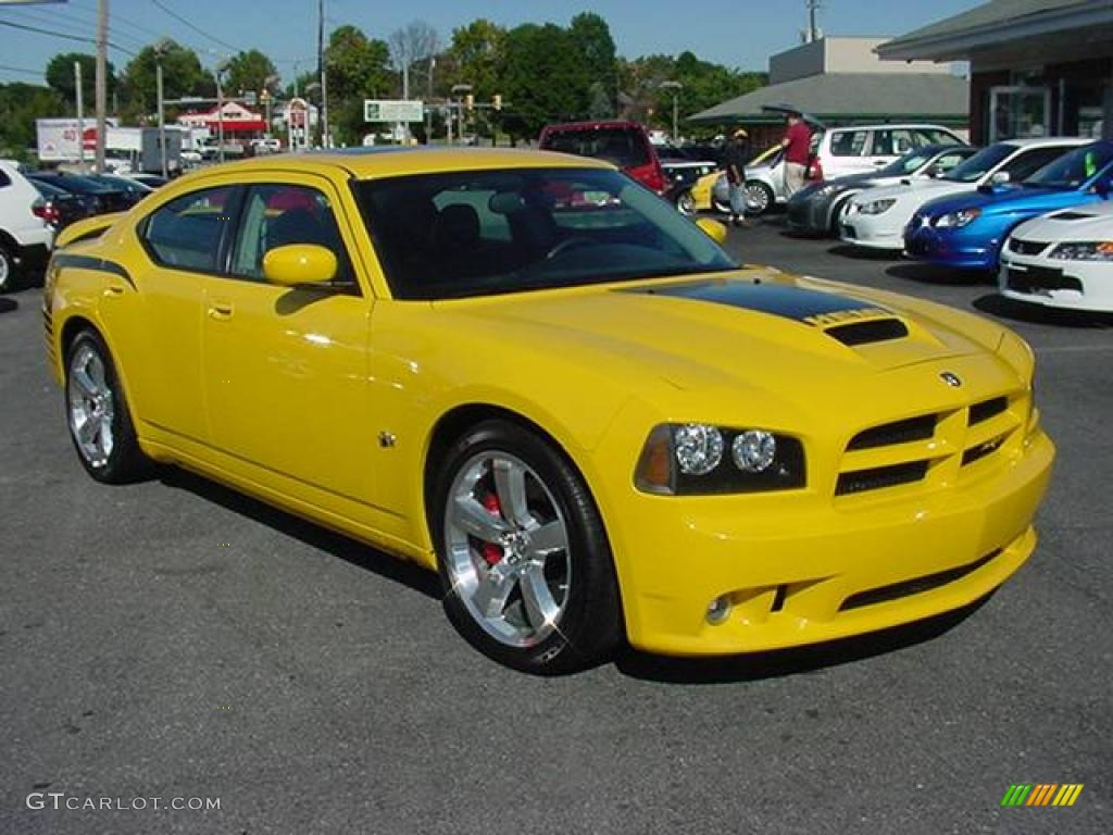 2007 detonator yellow clearcoat dodge charger srt 8 super bee 18641546 car. Black Bedroom Furniture Sets. Home Design Ideas