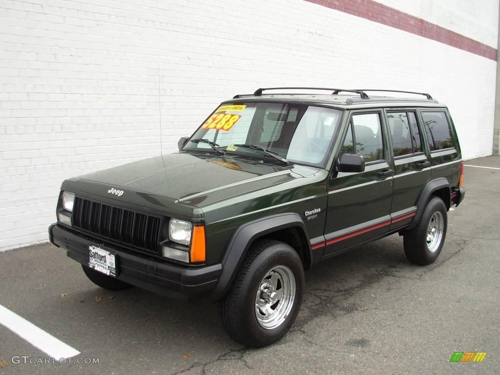1996 moss green pearl jeep cherokee sport #18642954 | gtcarlot