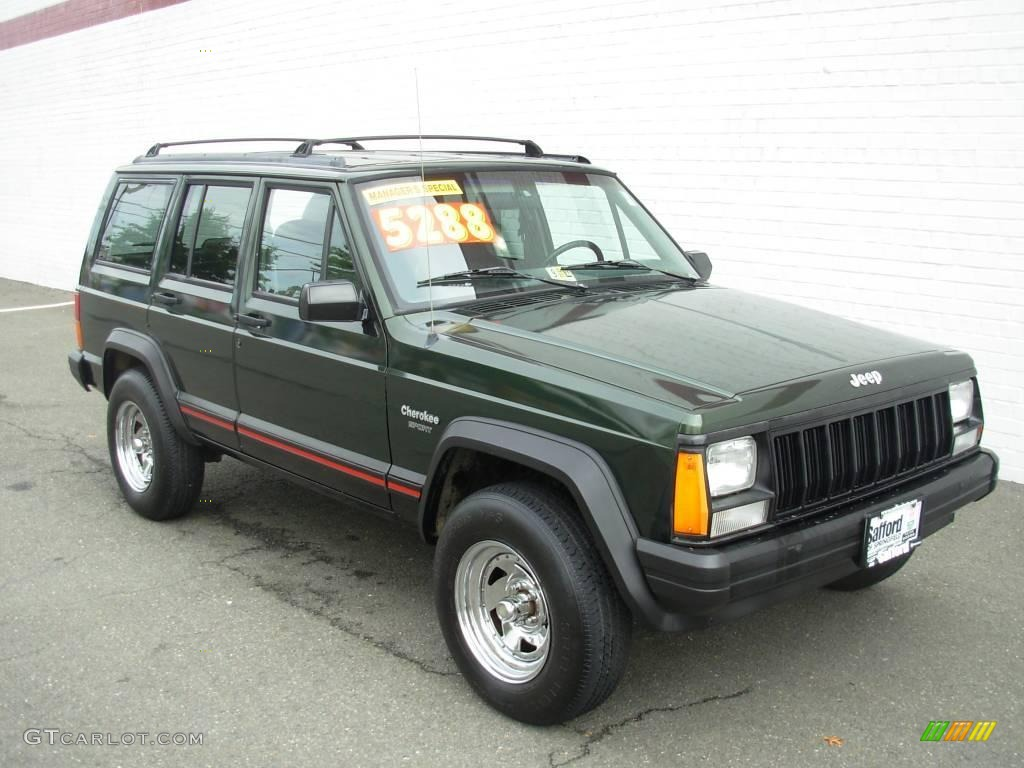 1996 Moss Green Pearl Jeep Cherokee Sport 18642954 Photo 7 Gtcarlot Com Car Color Galleries