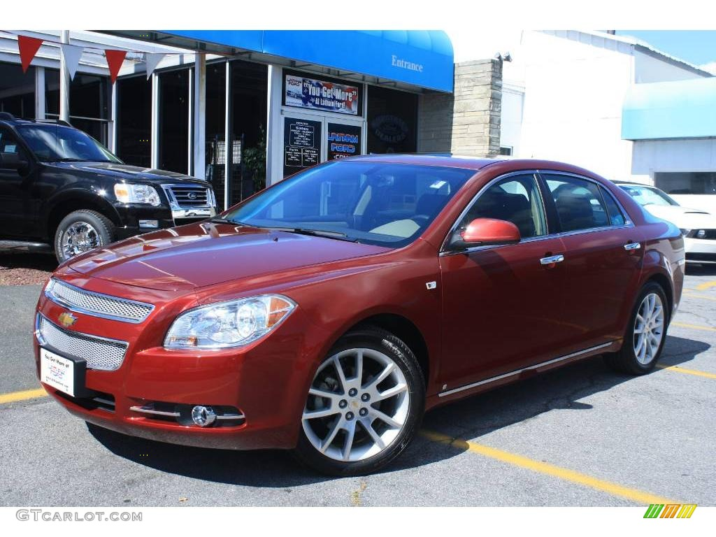 2008 red jewel tint coat chevrolet malibu ltz sedan. Black Bedroom Furniture Sets. Home Design Ideas