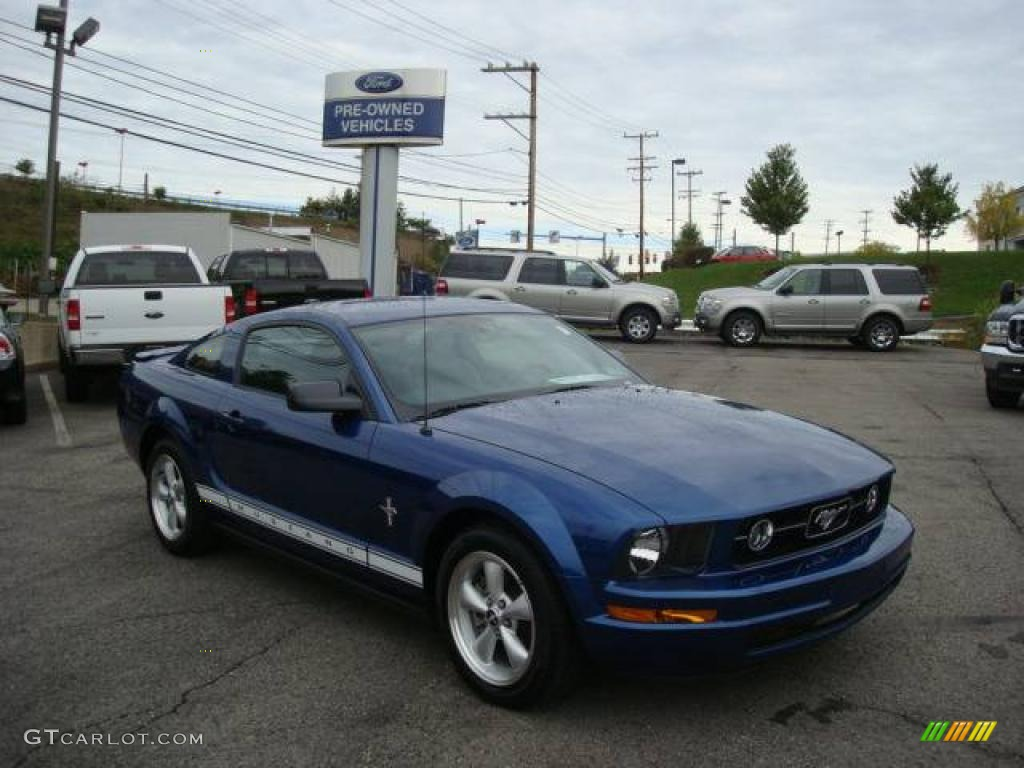 2007 Mustang V6 Premium Coupe - Vista Blue Metallic / Dark Charcoal photo #1