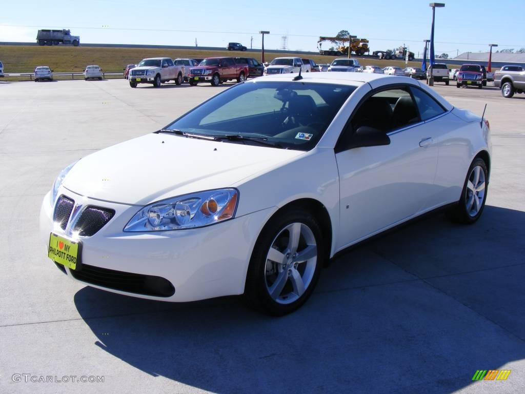 2008 Ivory White Pontiac G6 Gt Convertible 1860074
