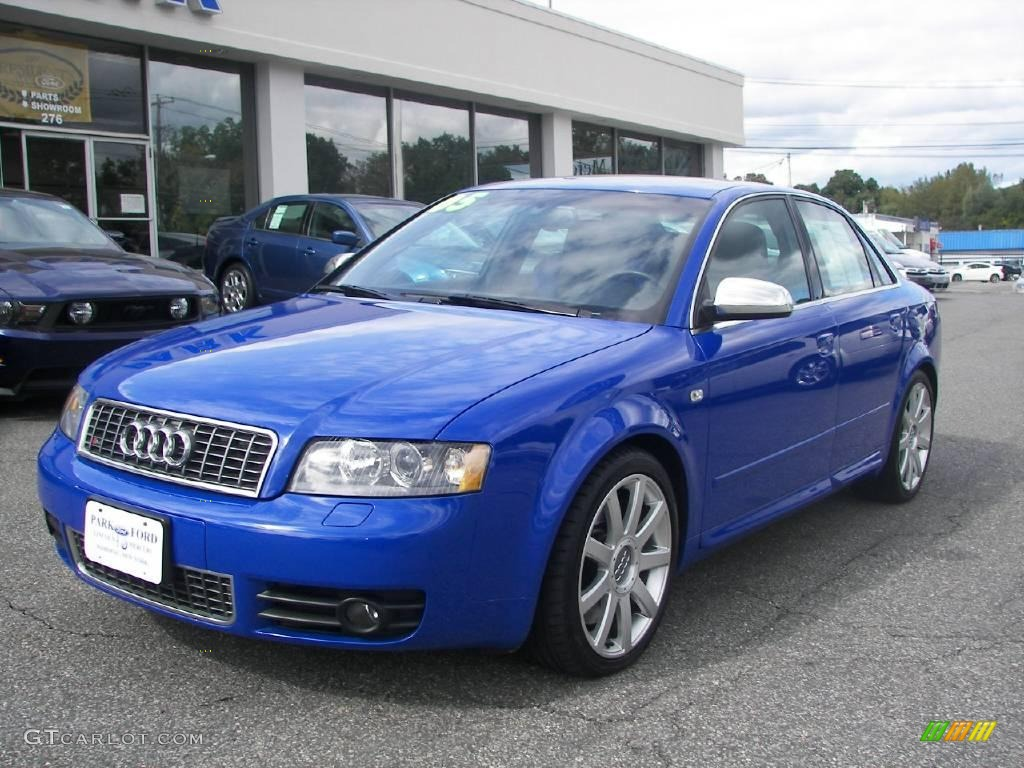 2005 Nogaro Blue Pearl Effect Audi S4 4 2 Quattro Sedan 18696607 Gtcarlot Com Car Color