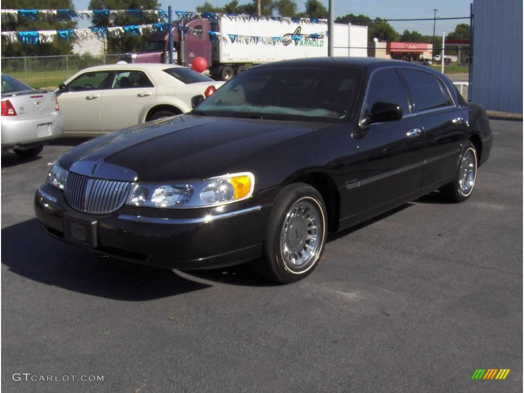 1999 ebony black lincoln town car cartier 18690725 car color galleries. Black Bedroom Furniture Sets. Home Design Ideas