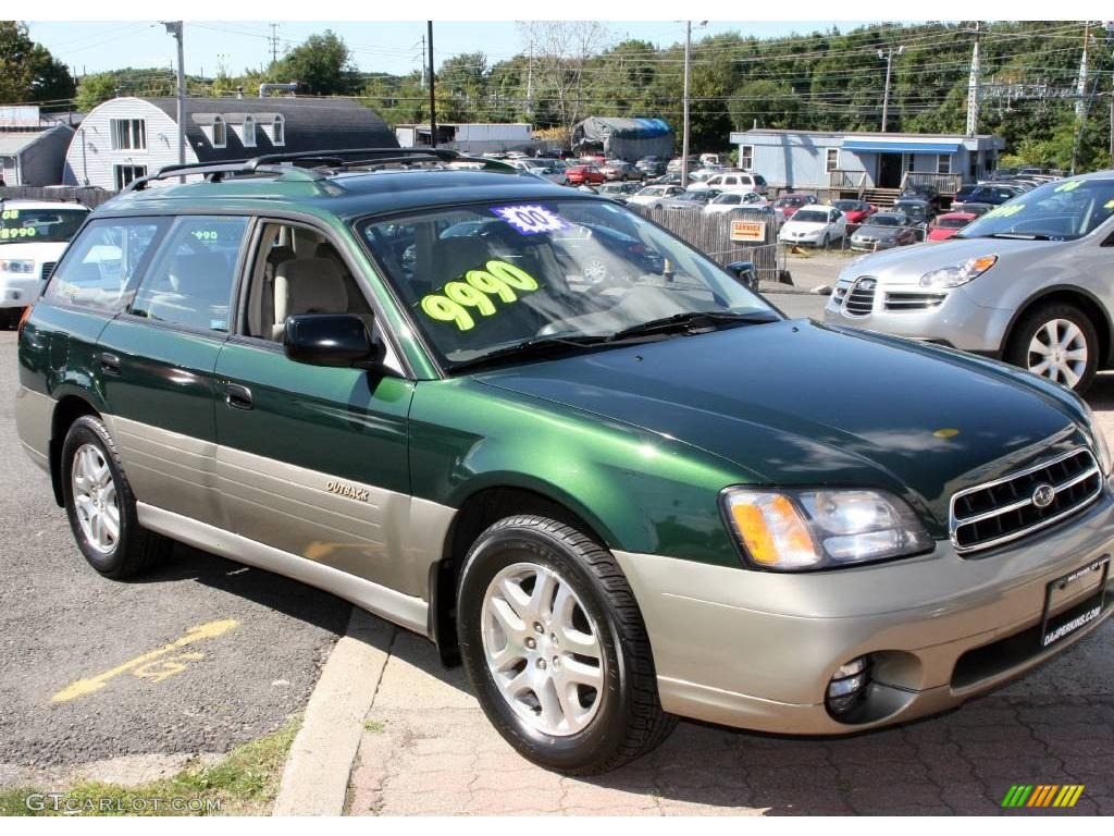 2000 timberline green pearl subaru outback wagon 18685963. Black Bedroom Furniture Sets. Home Design Ideas