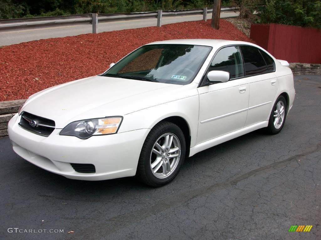 2005 satin white pearl subaru legacy sedan 18692706. Black Bedroom Furniture Sets. Home Design Ideas