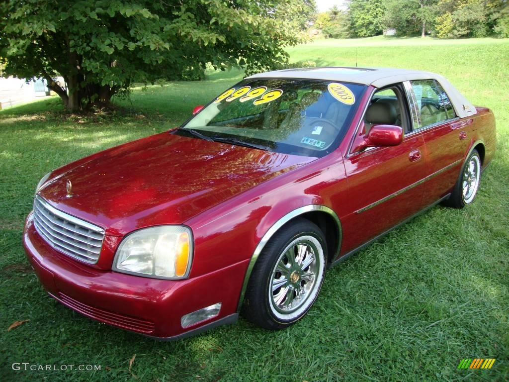 2003 crimson red pearl cadillac deville sedan 18686137 photo 2 car color. Black Bedroom Furniture Sets. Home Design Ideas
