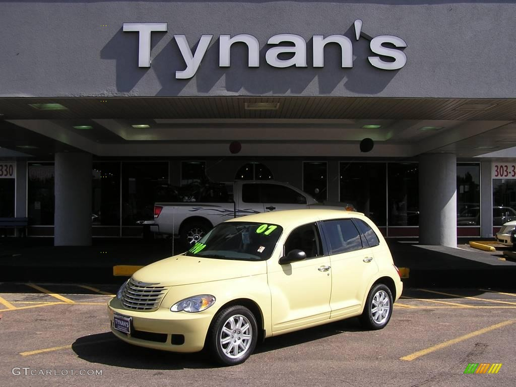 2007 PT Cruiser Touring - Pastel Yellow / Pastel Slate Gray photo #1