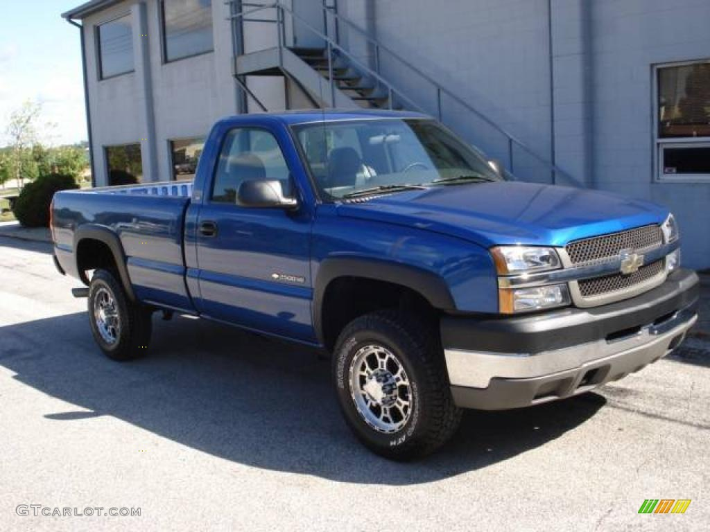 2003 Silverado 2500HD LS Regular Cab - Arrival Blue Metallic / Dark Charcoal photo #1