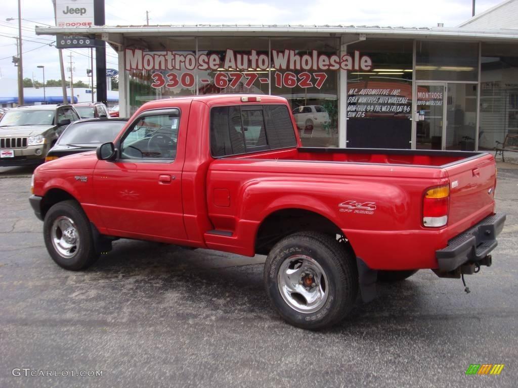 1998 bright red ford ranger xlt regular cab 4x4 18797841 photo 5 car color. Black Bedroom Furniture Sets. Home Design Ideas
