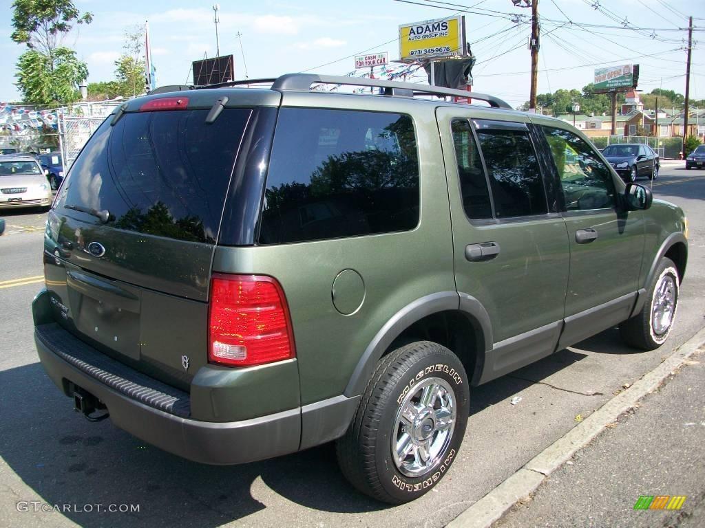 2003 Explorer XLT 4x4 - Estate Green Metallic / Midnight Gray photo #5