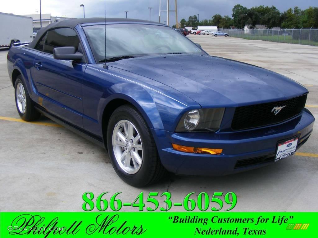 2007 Mustang V6 Premium Convertible - Vista Blue Metallic / Light Graphite photo #1