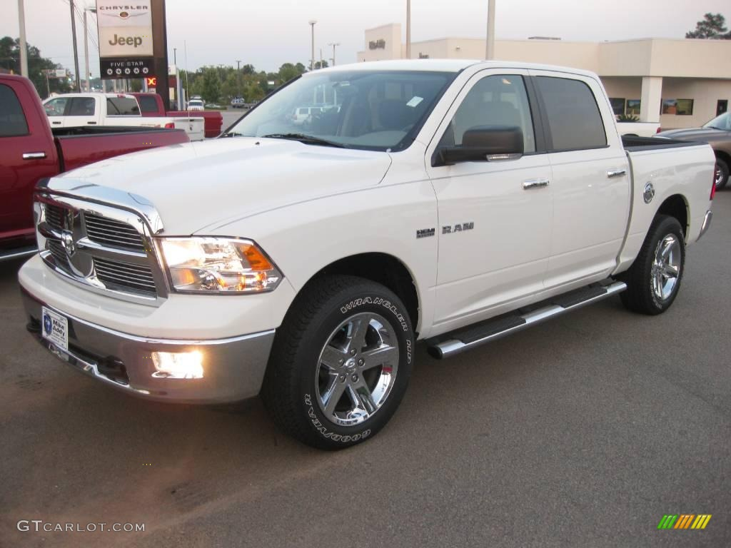 2009 stone white dodge ram 1500 big horn edition crew cab 4x4 18789507 car. Black Bedroom Furniture Sets. Home Design Ideas