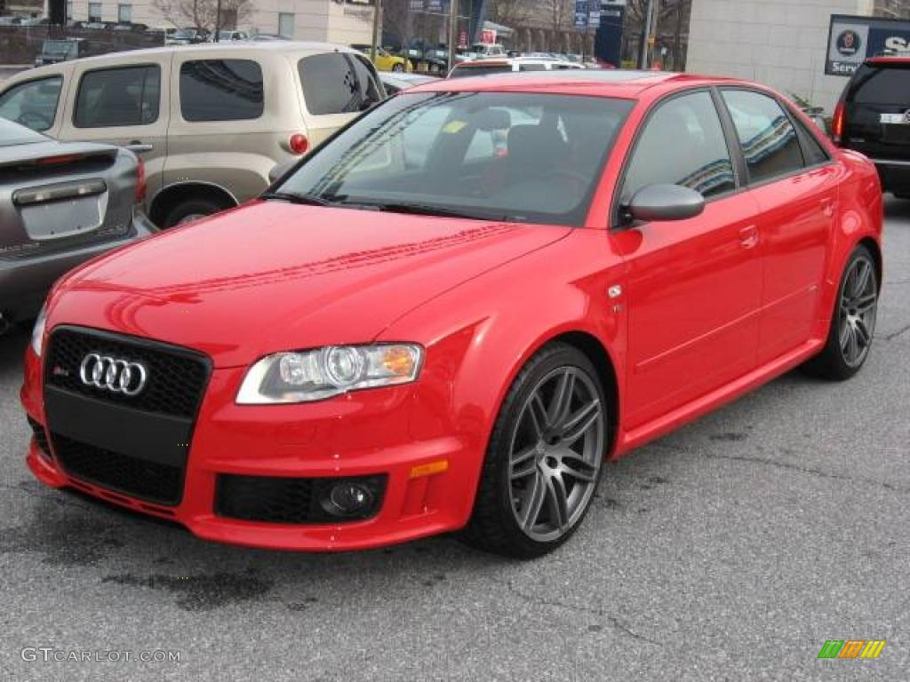 2008 misano red pearl effect audi rs4 4 2 quattro sedan 1872604 car color. Black Bedroom Furniture Sets. Home Design Ideas