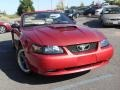 2001 Laser Red Metallic Ford Mustang GT Convertible  photo #6
