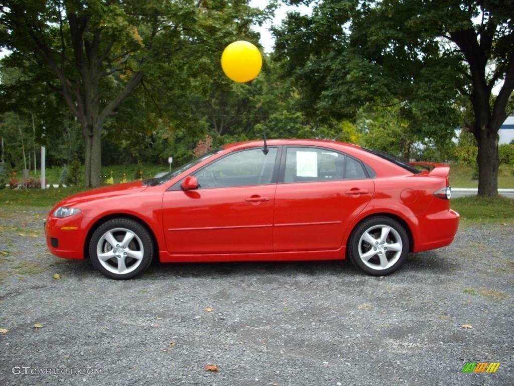Worksheet. 2008 Volcanic Red Mazda MAZDA6 i Sport Hatchback 18851259