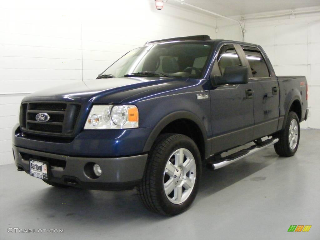 2007 f150 fx4 supercrew 4x4 dark blue pearl metallic black medium flint photo