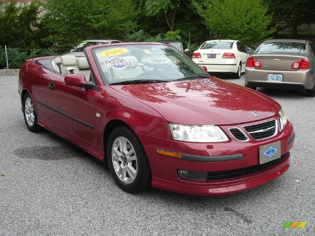 2005 chili red metallic saab 9 3 aero convertible 1872580 photo 2 car color. Black Bedroom Furniture Sets. Home Design Ideas