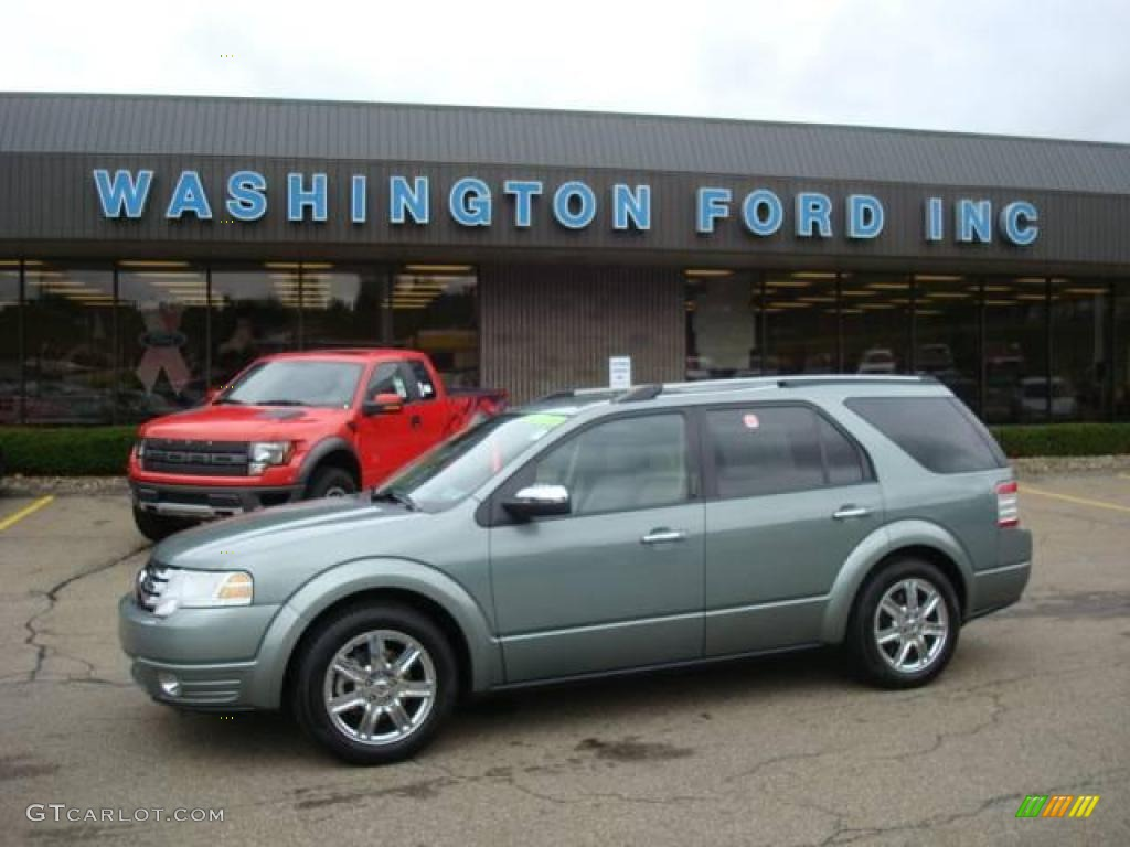 2008 Titanium Green Metallic Ford Taurus X Limited AWD #18915319 ...