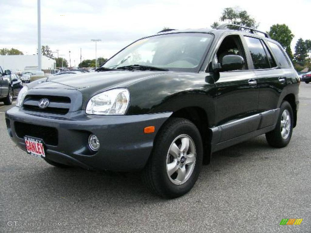 2006 dark emerald green hyundai santa fe limited 4wd. Black Bedroom Furniture Sets. Home Design Ideas