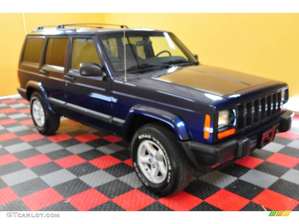 2001 Patriot Blue Pearlcoat Jeep Cherokee Sport 4x4 18917320 Gtcarlot Com Car Color Galleries