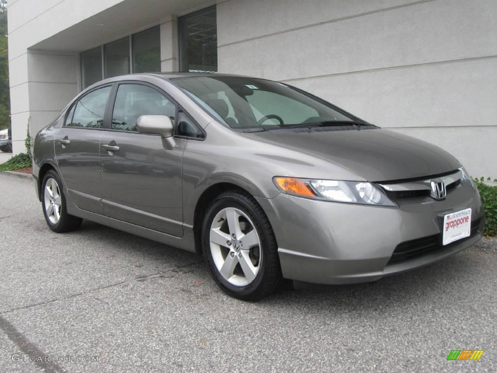 Galaxy Gray Metallic Honda Civic. Honda Civic EX Sedan
