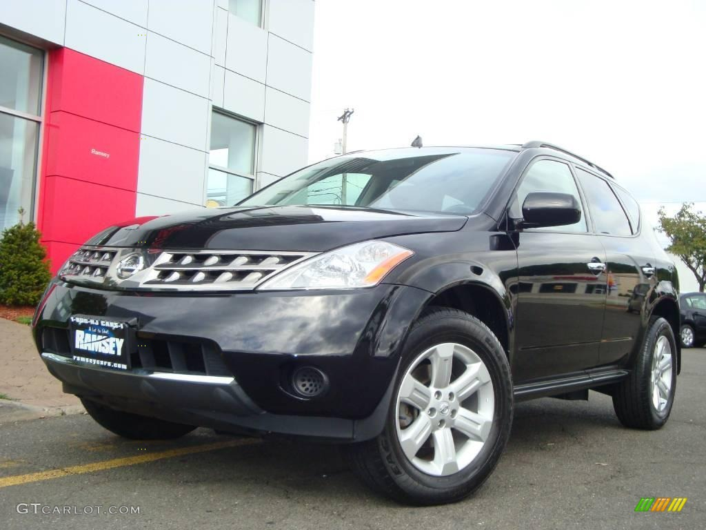 2006 Murano S AWD - Super Black / Charcoal photo #1