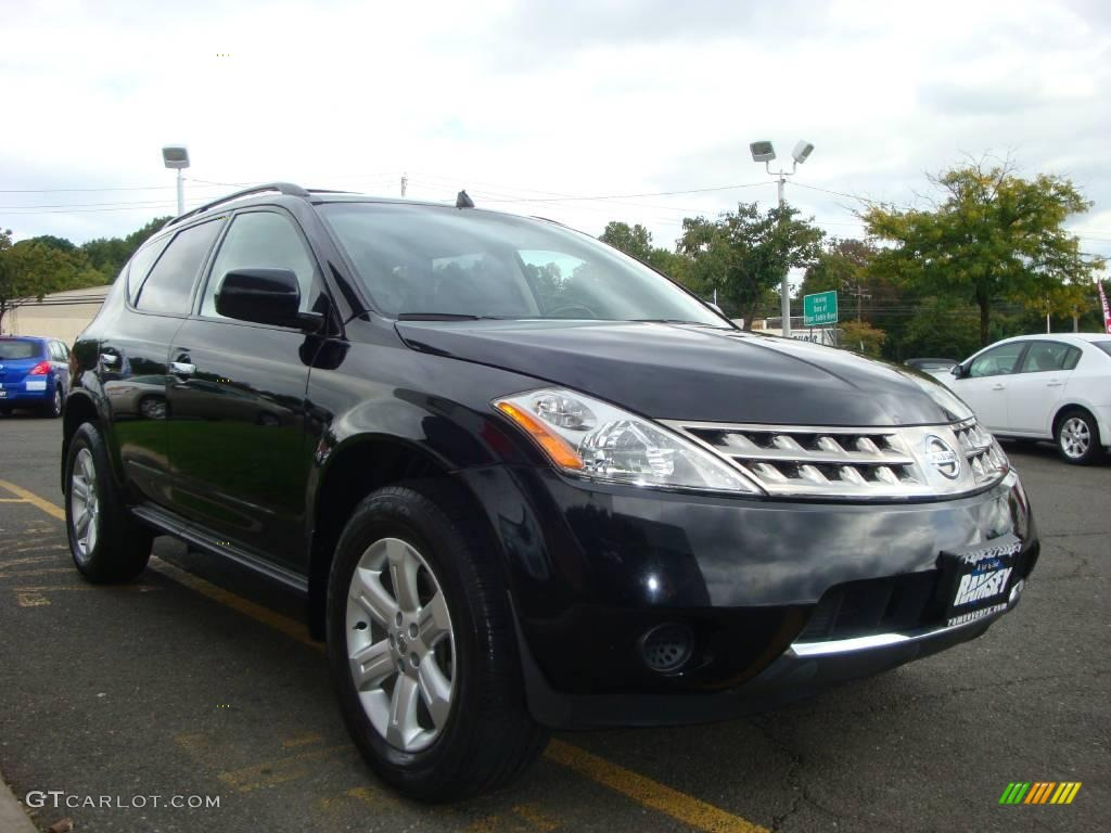2006 Murano S AWD - Super Black / Charcoal photo #15