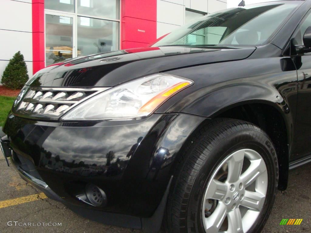 2006 Murano S AWD - Super Black / Charcoal photo #18