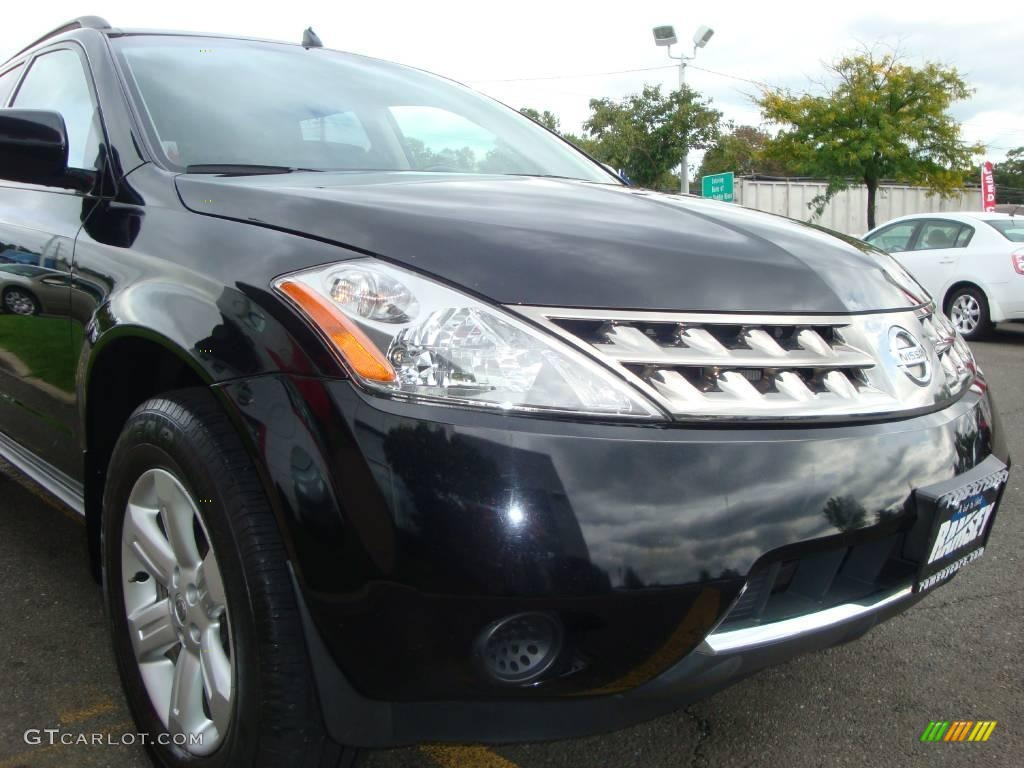2006 Murano S AWD - Super Black / Charcoal photo #24