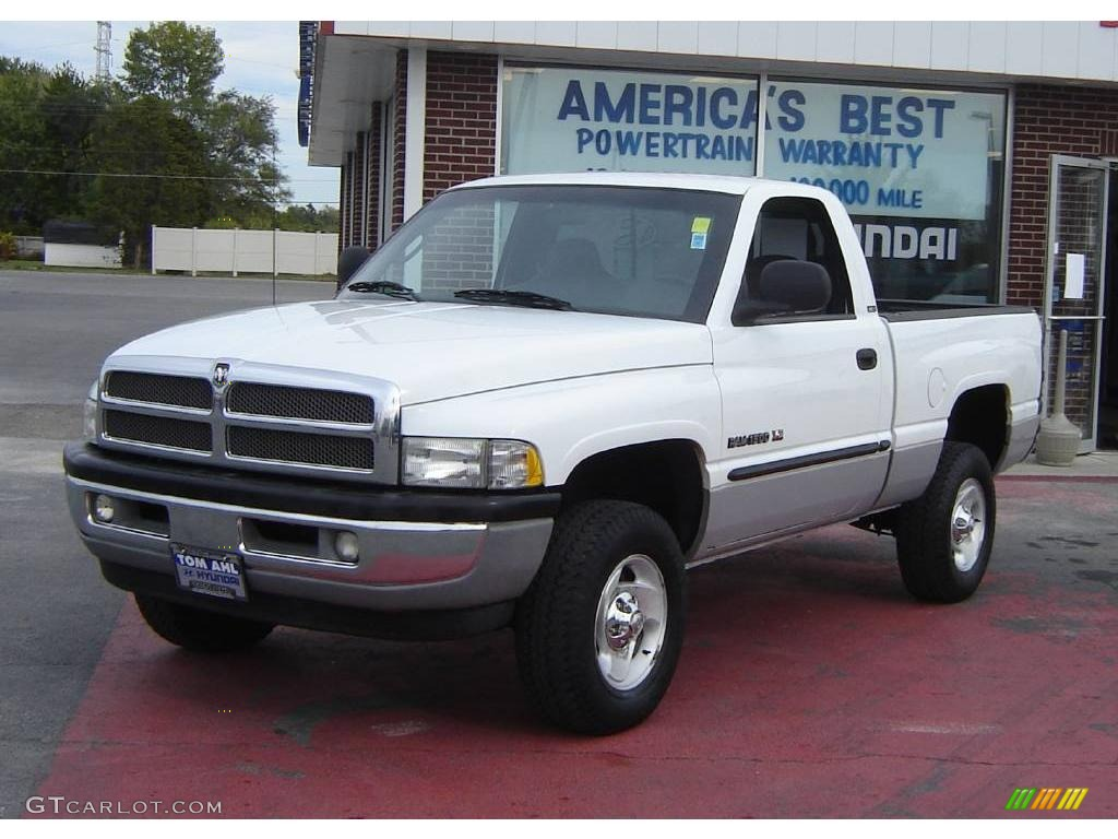 2001 bright white dodge ram 1500 slt regular cab 4x4 19000454 car color galleries. Black Bedroom Furniture Sets. Home Design Ideas