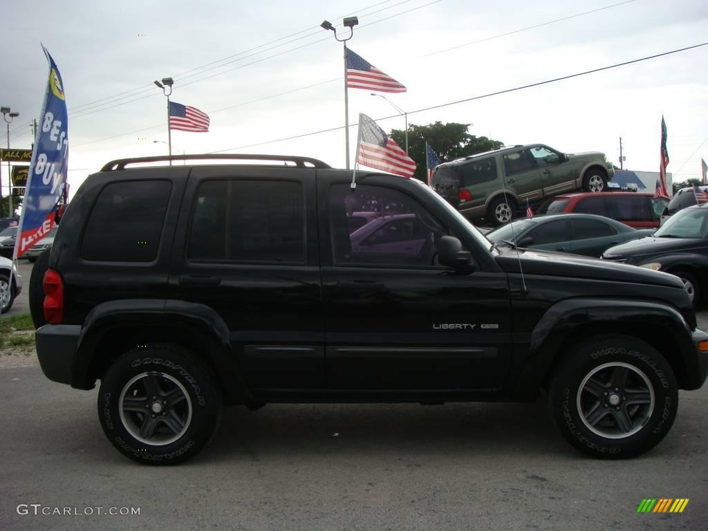 2004 black clearcoat jeep liberty sport 4x4 columbia edition 19007541 photo 2. Black Bedroom Furniture Sets. Home Design Ideas
