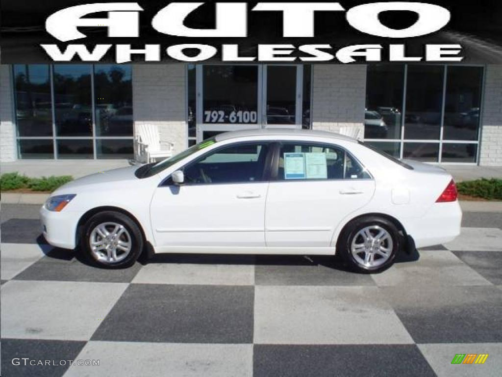 2007 Taffeta White Honda Accord Se Sedan 19006786