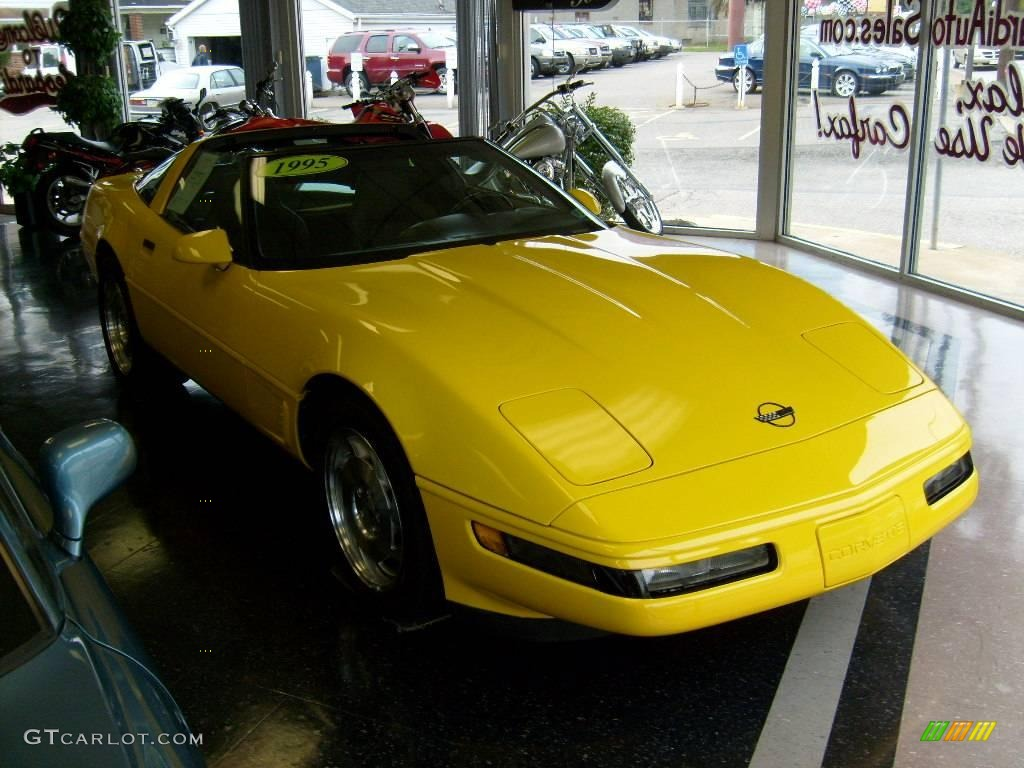 Competition Yellow Chevrolet Corvette