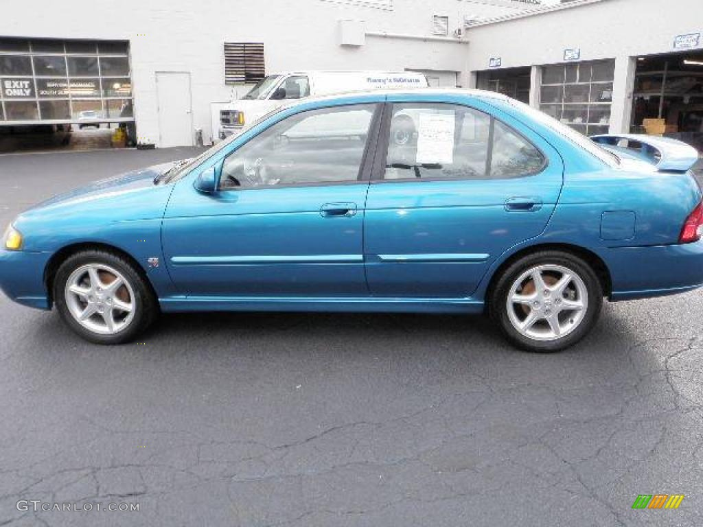 2002 vibrant blue metallic nissan sentra se r 19086794. Black Bedroom Furniture Sets. Home Design Ideas