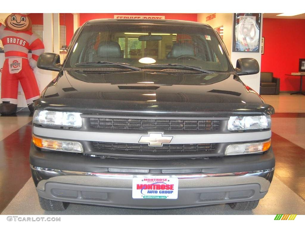 2002 Silverado 1500 LS Extended Cab - Onyx Black / Graphite Gray photo #10