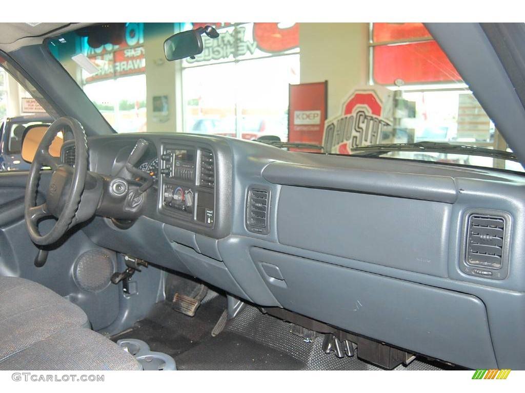 2002 Silverado 1500 LS Extended Cab - Onyx Black / Graphite Gray photo #14