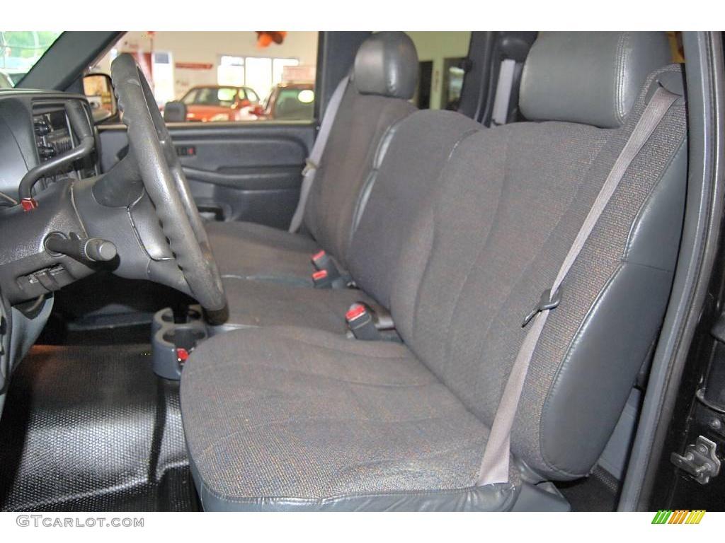 2002 Silverado 1500 LS Extended Cab - Onyx Black / Graphite Gray photo #15