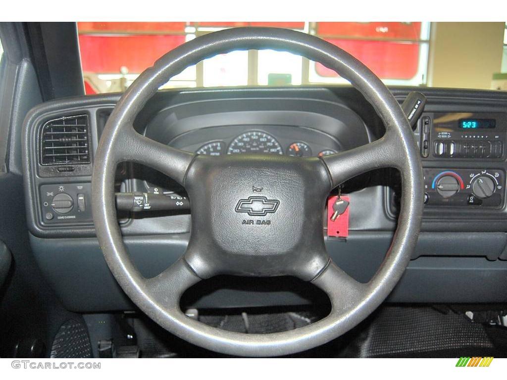 2002 Silverado 1500 LS Extended Cab - Onyx Black / Graphite Gray photo #27