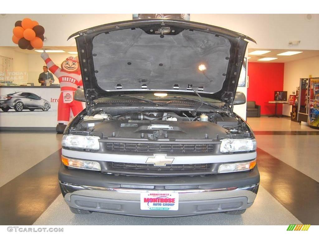 2002 Silverado 1500 LS Extended Cab - Onyx Black / Graphite Gray photo #40