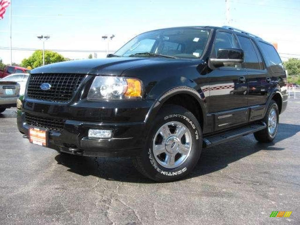 2005 expedition limited 4x4 black clearcoat medium parchment photo 1