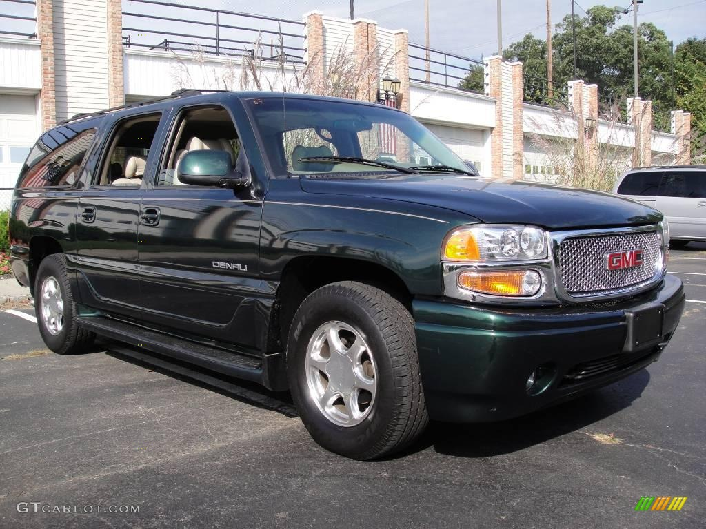 2002 polo green metallic gmc yukon xl denali awd 19082502. Black Bedroom Furniture Sets. Home Design Ideas