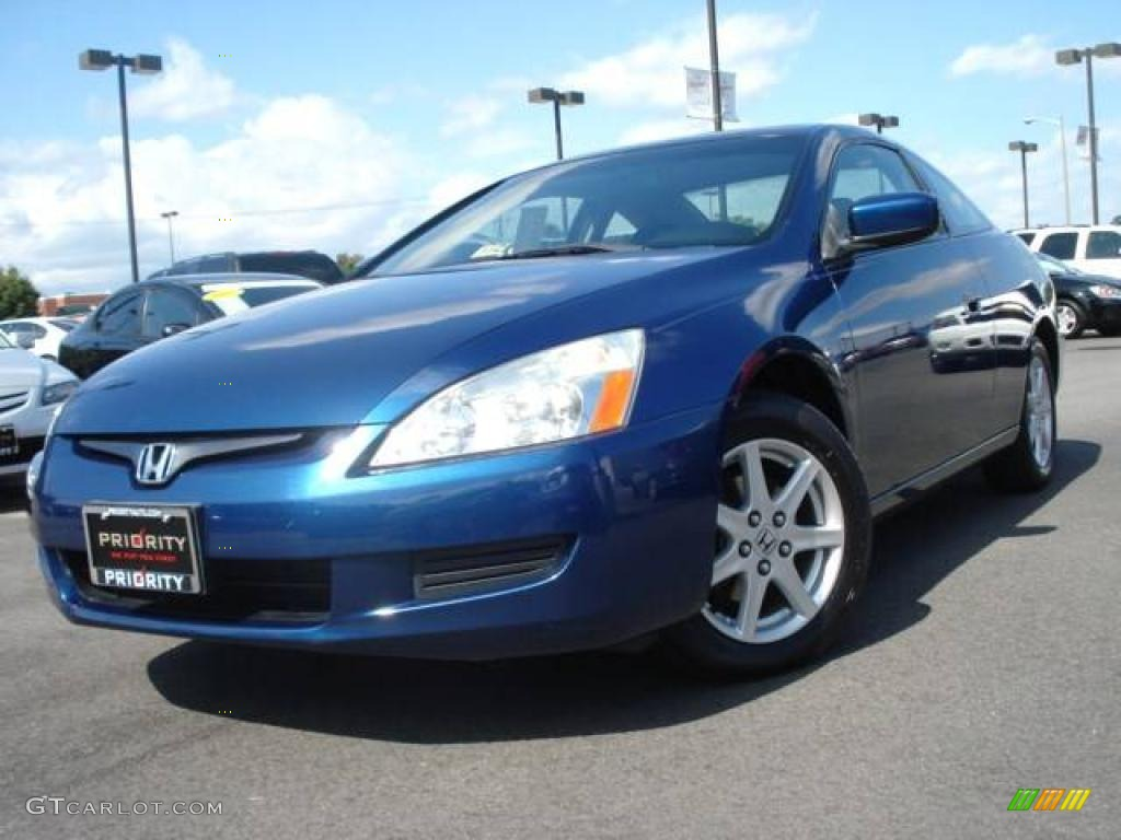 2004 sapphire blue pearl honda accord ex v6 coupe. Black Bedroom Furniture Sets. Home Design Ideas