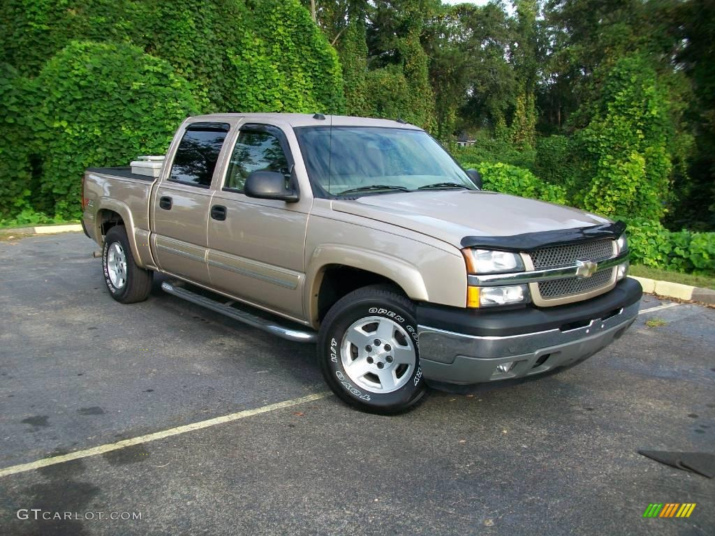 2005 sandstone metallic chevrolet silverado 1500 z71 crew cab 4x4 19076529 car. Black Bedroom Furniture Sets. Home Design Ideas
