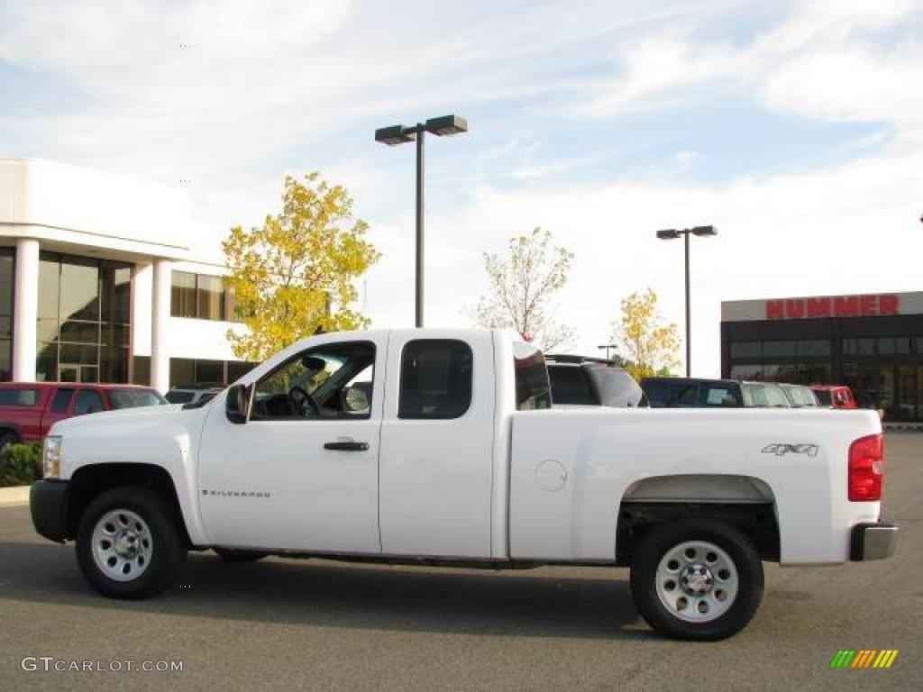 2008 summit white chevrolet silverado 1500 work truck extended cab
