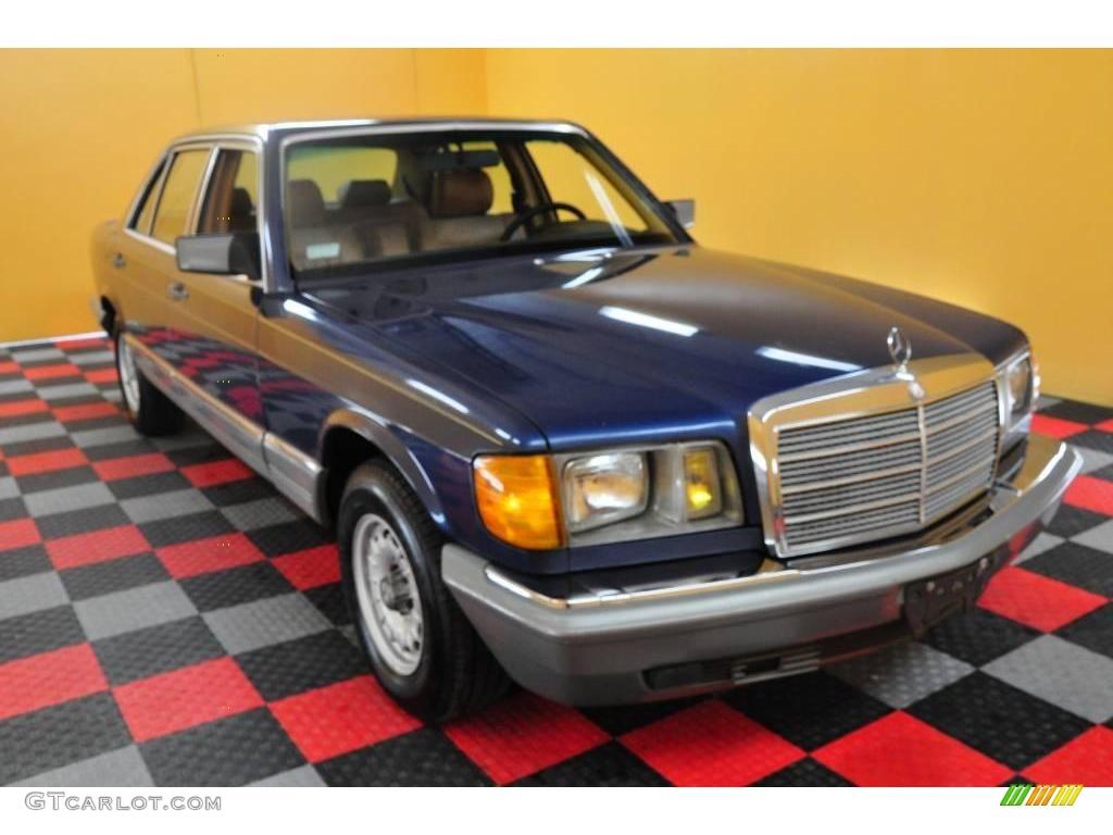 1985 nautical blue metallic mercedes benz s class 500 sel for Mercedes benz s class colours