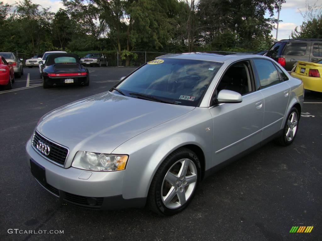 2003 light silver metallic audi a4 3 0 quattro sedan 19205557 car color galleries. Black Bedroom Furniture Sets. Home Design Ideas